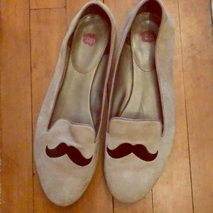 BP Mustache Smoking Flat Loafers 12 Leather